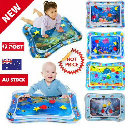 AU16.99 • Buy Baby Water Play Mat Inflatable For Infants Toddlers Fun Tummy Time Sea World AU