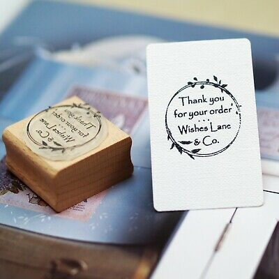 £13.50 • Buy Thank You For Your Order / Company / Business Name Personalised Rubber Stamp