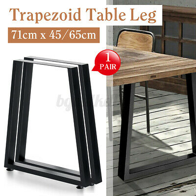 AU83.99 • Buy 2x 71CM Trapezoid Coffee Dining Table Legs Metal Industrial Furniture Steel