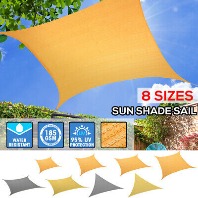 AU32.99 • Buy Sun Shade Sail Cloth Canopy ShadeCloth Triangle Square Rectangle Outdoor Awning
