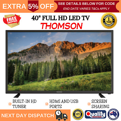 AU296.31 • Buy THOMSON TV 40 Inch Full HD 1080p 40  LED Built-In Tuner USB And HDMI Ports NEW