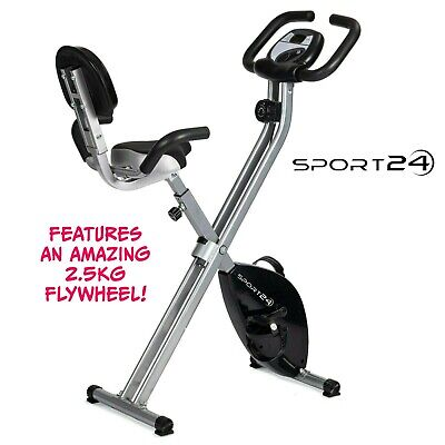 £119.99 • Buy Exercise Bike Folding Fitness Cardio Machine Workout Bicycle Home Gym Cycle