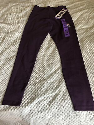 Fila Womens Youths Leggings Fila Logo Leggings In Gothic Grape Xs Waist 24 Bnwt • 9£
