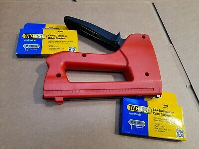 £3.95 • Buy Insulated Cable Tacker, CT-45 Tacwise , And Buy Staples On Same Page, Free P&P