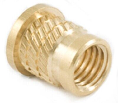 Threaded Brass Inserts Headed Flanged Multibarbed Pressfit-in  • 2.85£