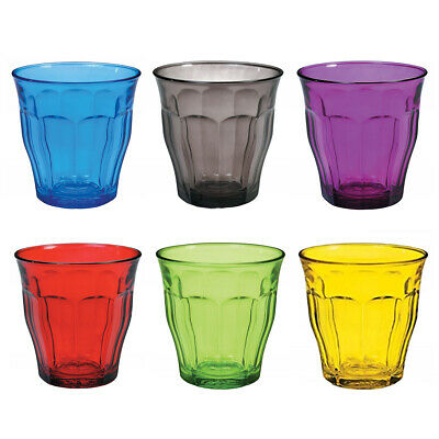 £19.80 • Buy Duralex Set Of 6 Picardie Tumblers, Colors 25cl Small Drinks Glasses Coloured