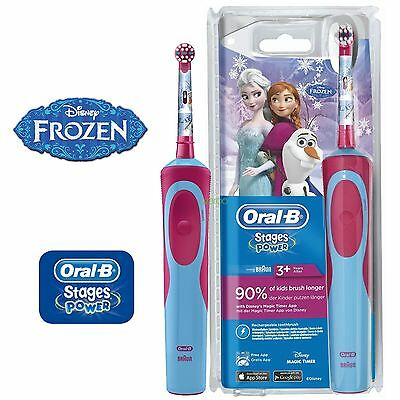 AU72.72 • Buy Braun Oral-B Stages Vitality Kids Disney Frozen Electric Toothbrush For Children