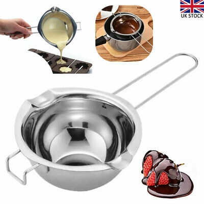 Stainless Steel Wax Melting Pot Double Boiler For DIY Wedding Scented Candle UK • 7.90£