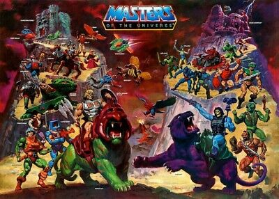 $14.94 • Buy He-Man  Masters Of The Universe  POSTER 1984 Rare Large MOTU