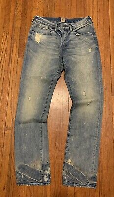 PRPS Demon Slim Fit Mid Rise Button Fly Distressed Jeans Mens 32x34 NWOT • 71.52£