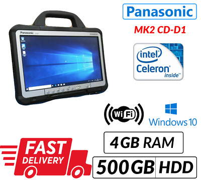 MK2 PANASONIC TOUGHBOOK CF-D1 13.3  TABLET 4GB 500GB WIN 10 | 12 M WTy • 169.99£