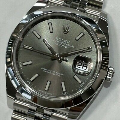 $ CDN12231.68 • Buy Rolex Datejust 126300 Random Number Gray Automatic Box And Papers Mint