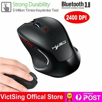 AU22.88 • Buy Wireless Bluetooth 3.0 Optical Gaming Mouse Mice 2400 DPI For PC Computer Laptop