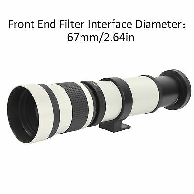 £94.01 • Buy 420‑800mm F8.3 Telephoto Zoom Lens Telescope +2X Magnification For Canon EF-S