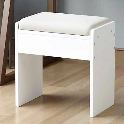 Wooden Dressing Table Stool Vintage Soft Cushioned Seat Makeup PU Bench Chair • 27.99£