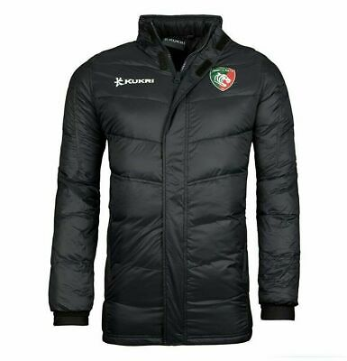 £49.99 • Buy Leicester Tigers Rugby Jacket Men's Kukri Padded Down Jacket - Black - New