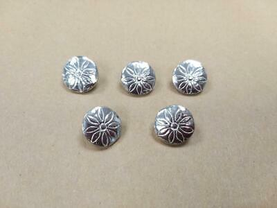 15mm Flower Pewter Button (5 Pack) - Re-Enactment, Costume, Living History • 2.75£