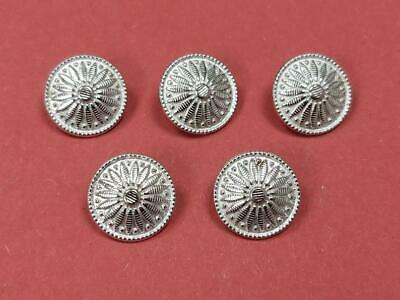 20mm Flower Pewter Button (5 Pack) - Re-Enactment, Costume, Living History • 2.75£