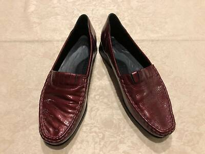 AU35 • Buy Ziera Patent Leather Maroon Moccasin SlipOn Size 11 EUR 42