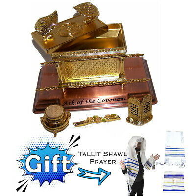 £61.80 • Buy 7  Ark Of Covenant Jewish Gold Statue Plated Copper Gift Tallit Prayer Shawl