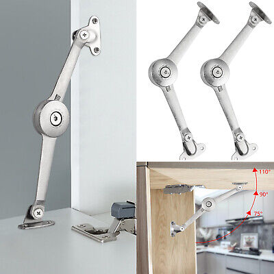 2X Cupboard Cabinet Lid Door Soft Close Stay Support Hinge Movable Hardware UK • 10.99£