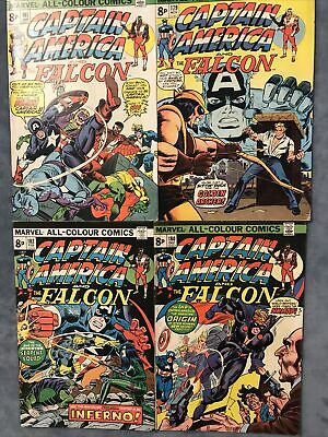 MARVEL COMICS. CAPTAIN AMERICA AND THE FALCON. # 179-182. 1st NOMAD. 4 ISSUE RUN • 2£