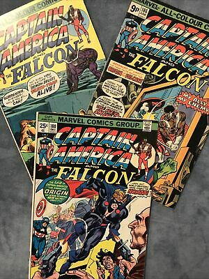 MARVEL COMICS. CAPTAIN AMERICA AND THE FALCON. ISSUES 180, 186 & 187. 1st NOMAD. • 2£