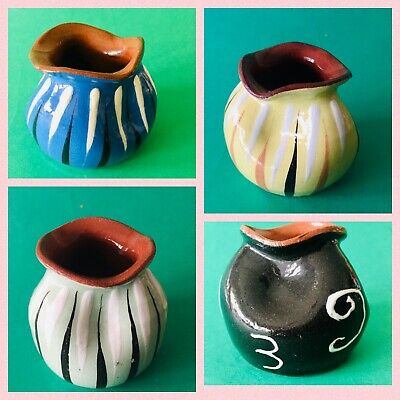 £28.99 • Buy 4 Torquey/Devon Pottery Babacombe/Watcombe/Bovey Pinched Vase/Pot Small