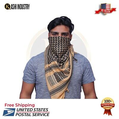 $7.99 • Buy Military Army Shemagh Tactical Desert Keffiyeh Scarf Sand And Black Scarve Heavy
