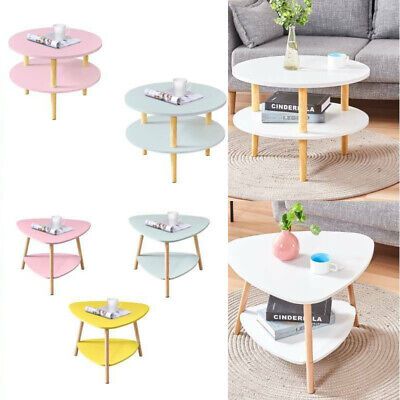 £16.99 • Buy 2 Tier Coffee/Tea Table Side End Tables Living Room Sofa Storage Round Wooden