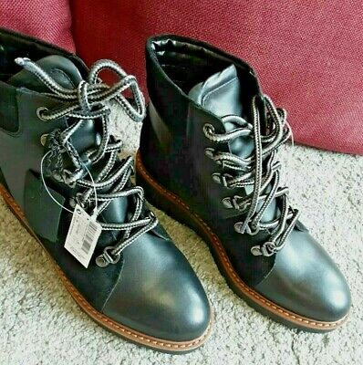 NEXT Forever Comfort Women Leather Boots Lace-Up Ladies Shoes Size UK3.5/EUR36   • 34.99£