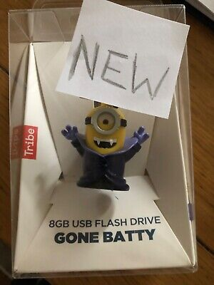 BNIP Tribe 8GB USB Flash Drive Pen Memory Stick Despicable Me Minion Gone Batty • 11£