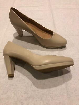 AU109 • Buy Brand New, Ziera, Opal, Leather Pumps, Nude Heels, Size 42FF