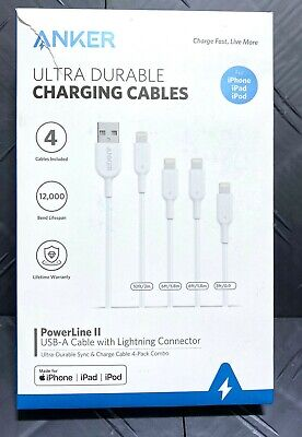 AU36.19 • Buy Anker Lightning Apple Iphone Ipad Fast Charge Cable White