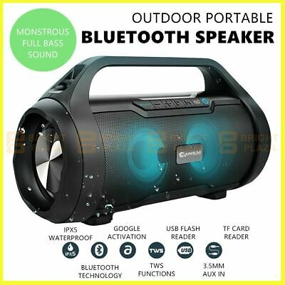 AU79.95 • Buy Outdoor Portable Wireless Bluetooth Speaker Stereo Super Bass Music Boombox IPX5