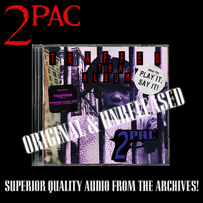 2PAC - Trapped: Tha Album Original Rare Album Raw & Uncut Promo Unreleased • 75£