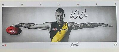 AU395 • Buy AFL RICHMOND TIGERS – DUSTIN MARTIN HAND SIGNED & FRAMED WINGS Premiers Brownlow