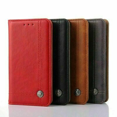 AU11.99 • Buy Leather Flip Wallet Shockproof Protective Case Cover For LG K8 2017 LG G6 Q6 V30