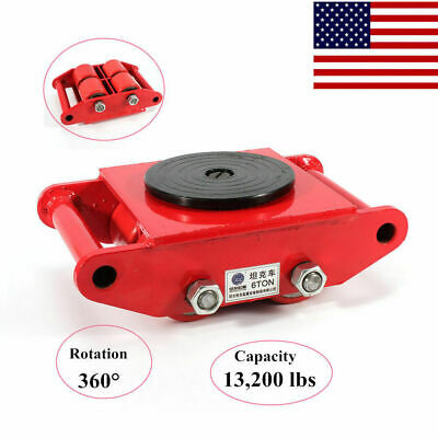 $51 • Buy Red Heavy Equip Machine Dolly Skate Machinery Roller Mover Cargo Trolley 6T USA