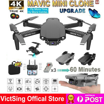 AU55.95 • Buy Drone WIFI FPV HD 4K Wide Angle Camera Foldable Selfie RC Quadcopter Remote Toy
