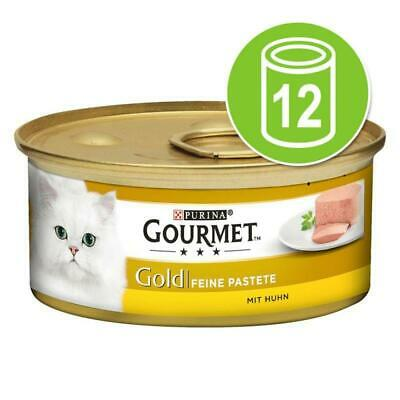 Gourmet Gold Chicken Pate Tins 12x85g Cat Food • 10.79£
