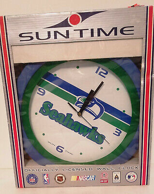 £29.09 • Buy Sun Time Seattle Seahawks Officially Licensed Wall Clock