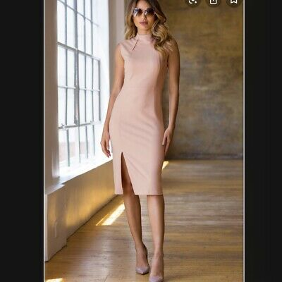 $ CDN82.45 • Buy Ivanka Trump Women's Mock Neck Crepe Blush Pink Business Casual Dress, Size 12