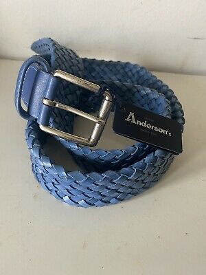 £45 • Buy ANDERSON'S Made In ITALY Men's Calf Leather Woven Belt 34UK (see Measurement)