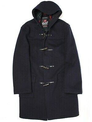 $219.99 • Buy Gloverall Mens Duffle Coat 40 Navy Blue Wool Blend Hooded Horn Toggle England