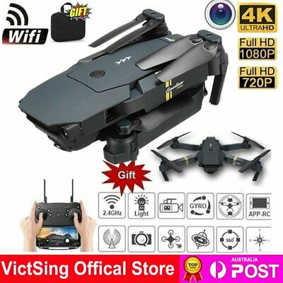 AU49.30 • Buy Pro 4k HD 1080P Camera Foldable RC Drone Wireless Wifi FPV Quadcopter Helicopter