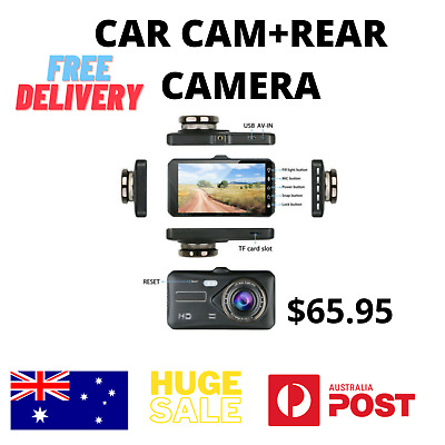 AU61 • Buy 1080P Touch Screen Car DVR Camera Recorder Dual Lens Front And Rear HD Dash Cam.