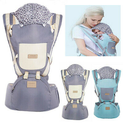 Ergonomic Baby Carrier With Hip Seat Stool Adjustable Wrap Sling Backpack Bag 7 • 18.99£