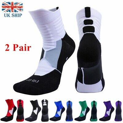 £9.99 • Buy 2 Pair Protective Thick Cotton Sports Socks Basketball Athletic Compression Sock