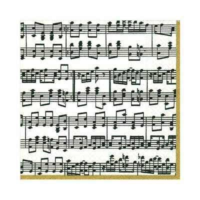 £2.59 • Buy 5 Paper Party Napkins Musica Music Score Pack Of 5 3 Ply Serviettes
